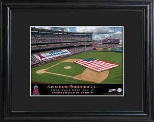 Personalized MLB Stadium Print - Angels