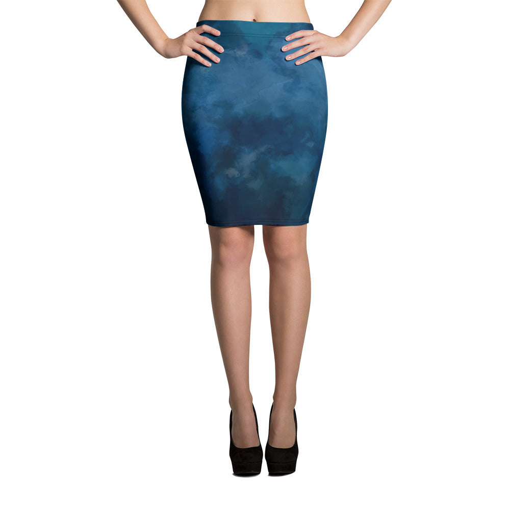 All-Over Print Pencil Skirt