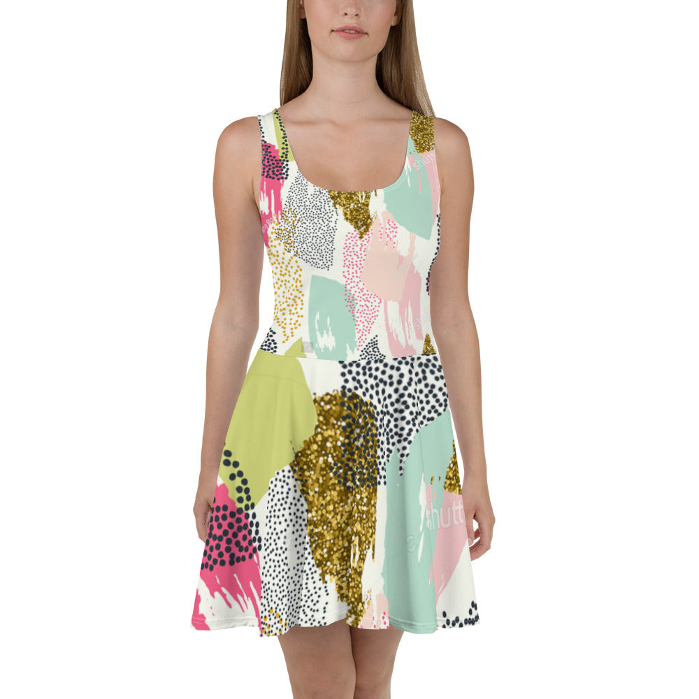 All-Over Print Skater Dress P