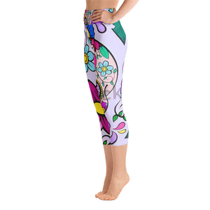 All-Over Print Yoga Capri Leggings