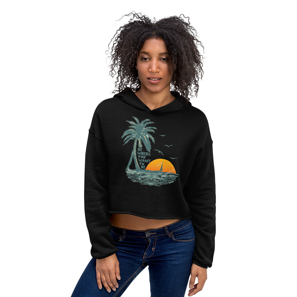 Bella + Canvas 7502 Women's Fleece Crop Hoodie