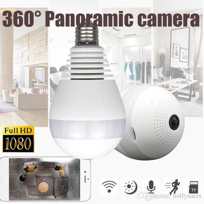 360 Degree Smart Home Wifi Camera Bulb
