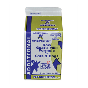 Answers Pet Food Raw Goats Milk For Dogs & Cats