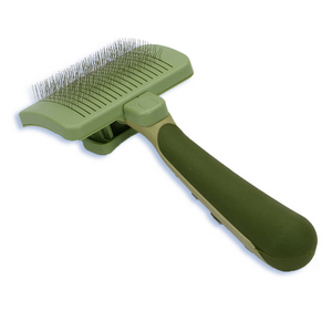 Safari® Dog Self-Cleaning Slicker Brush
