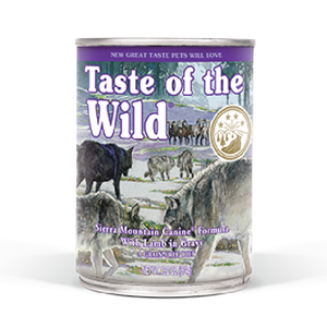 Taste Of The Wild Sierra Mountain Canned Dog Food 13.2oz
