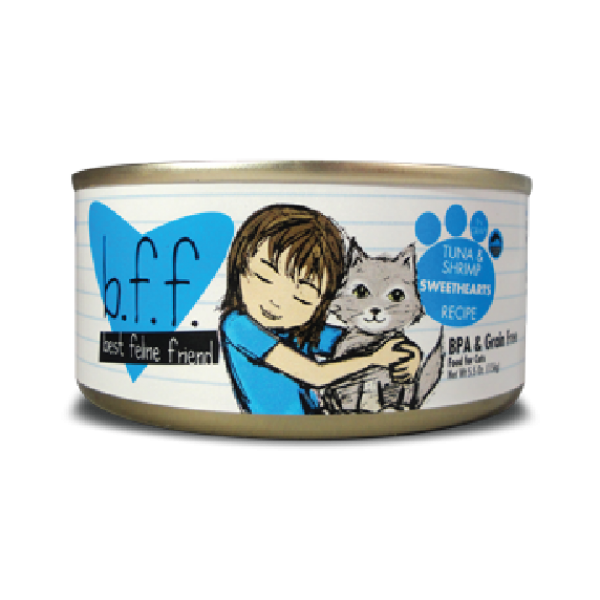 BFF Originals Tuna & Shrimp Sweethearts Recipe in Gravy Canned Cat Food