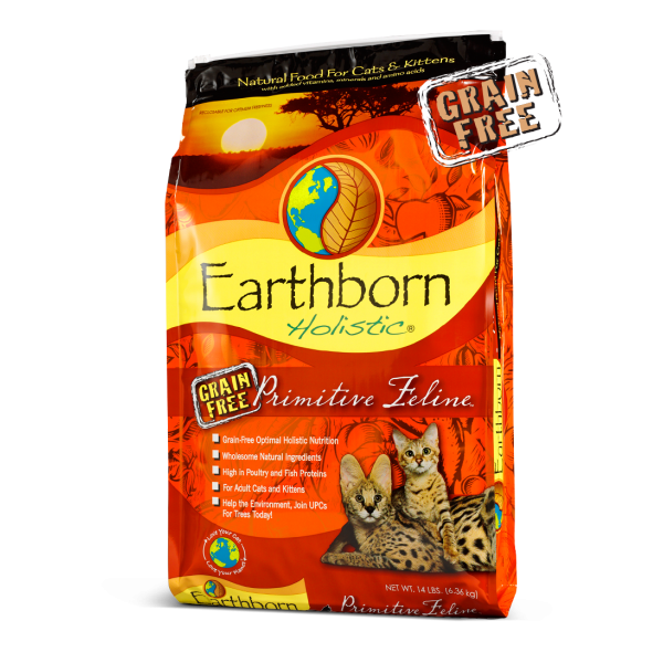Earthborn Holistic Primitive Feline Grain Free Natural Dry Cat & Kitten Food