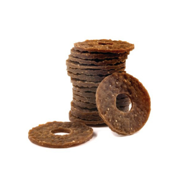 Petsafe Busy Buddy Natural Rawhide Peanut Butter Rings Dog Treats