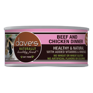 Dave's Pet Food Naturally Healthy Grain-Free Beef & Chicken Dinner Canned Cat Food