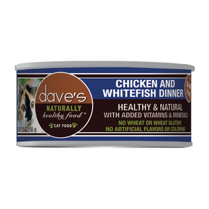 Dave's Pet Food Naturally Healthy Grain-Free Chicken & Whitefish Dinner Canned Cat Food