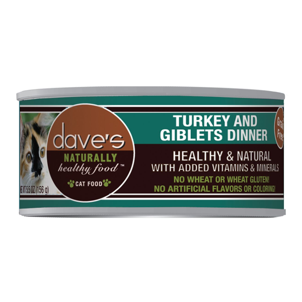 Dave's Pet Food Naturally Healthy Grain-Free Turkey & Giblets Dinner Canned Cat Food