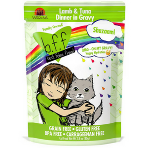 BFF OMG Shazaam! Lamb & Tuna Dinner in Gravy Cat Food Pouches