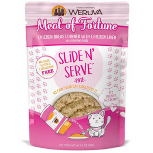 Weruva Slide and Serve Meal of Fortune Chicken Breast Dinner with Chicken Liver Pate Cat Food Pouches