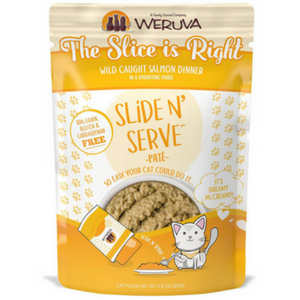 Weruva Slide and Serve The Slice is Right Wild Caught Salmon Dinner Pate Cat Food Pouches