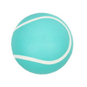 Playology Squeaky Chew Ball Dog Toy Peanut Butter