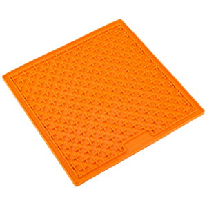 Boredom Busters Indulge Orange Crosses Licking Mat