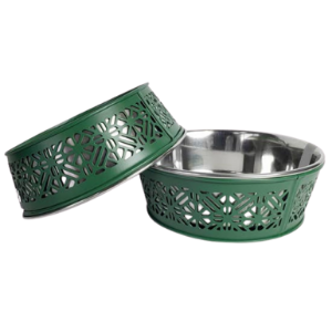 Jojo Modern Pets Country Bowl Dark Green