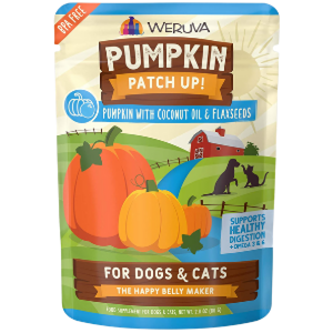 Weruva Pumpkin Patch Up! Pumpkin with Coconut Oil & Flaxseeds Dog & Cat Food Supplement Pouches
