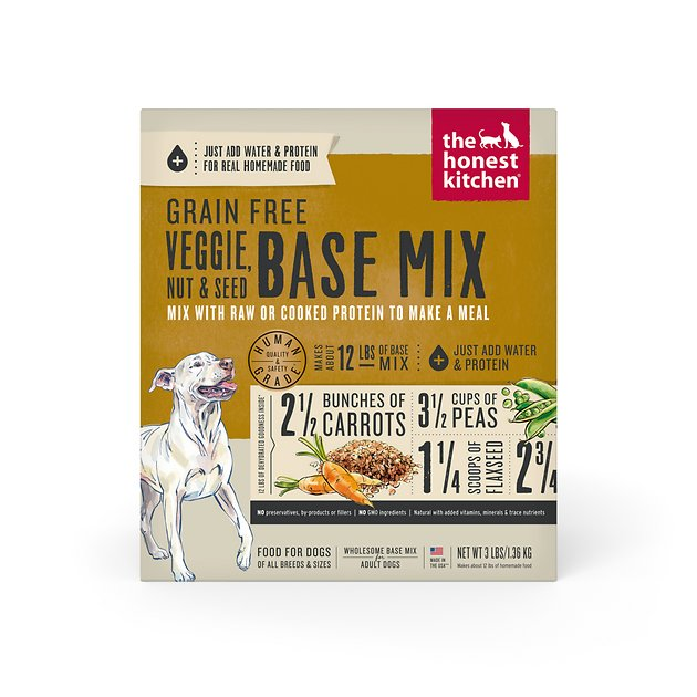 The Honest Kitchen Grain Free Veggie, Nut & Seed Dehydrated Base Mix for Dogs