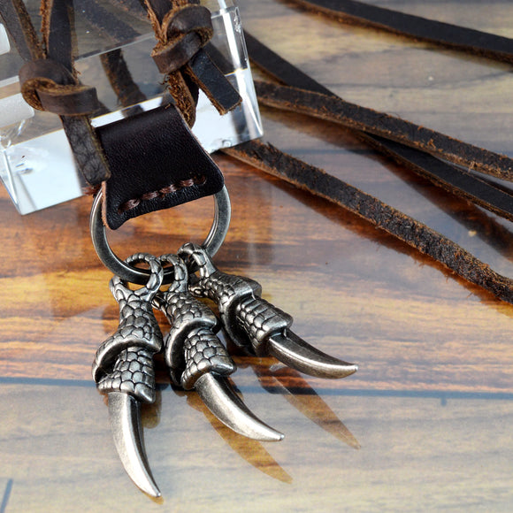 Leather Cord Pendant Necklaces
