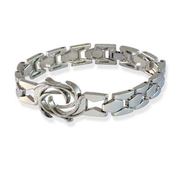 Men Flame Bracelet Silver color for Everyday wear by Sarah