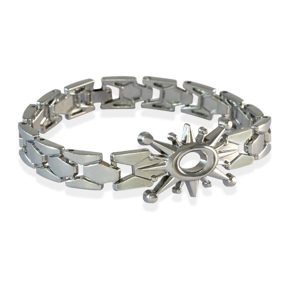 Men Sun Spark Bracelet Silver color for Everyday wear by Sarah