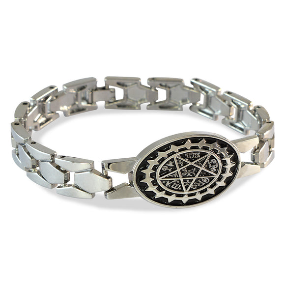 Men's Power Map Silver Color Bracelet