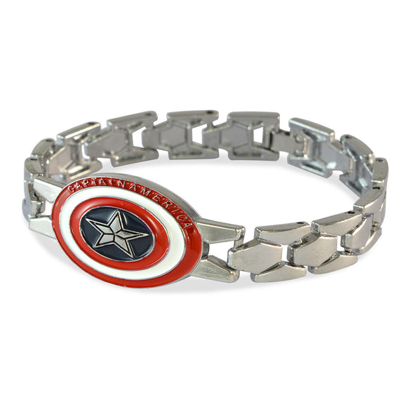 Men's Captain America Silver Color Bracelet