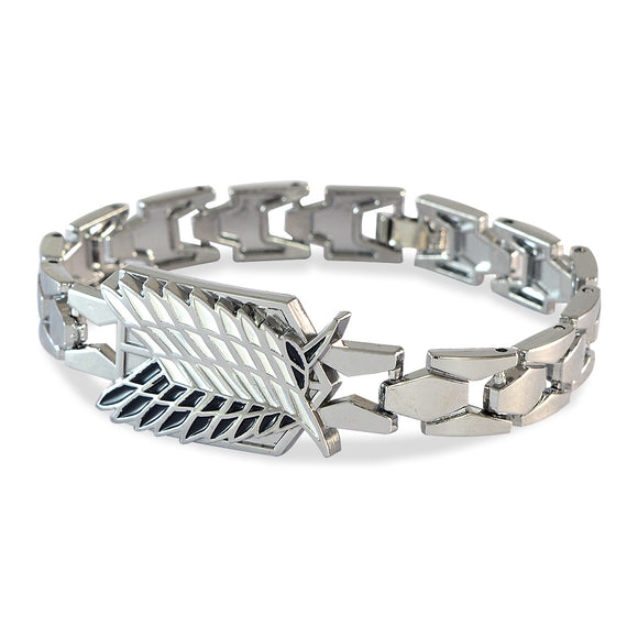 Men's Eagle Feathers Silver Color Bracelet