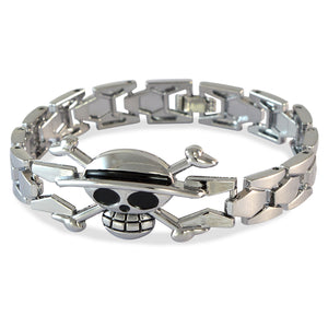 Men's Danger Skull Silver Color Bracelet