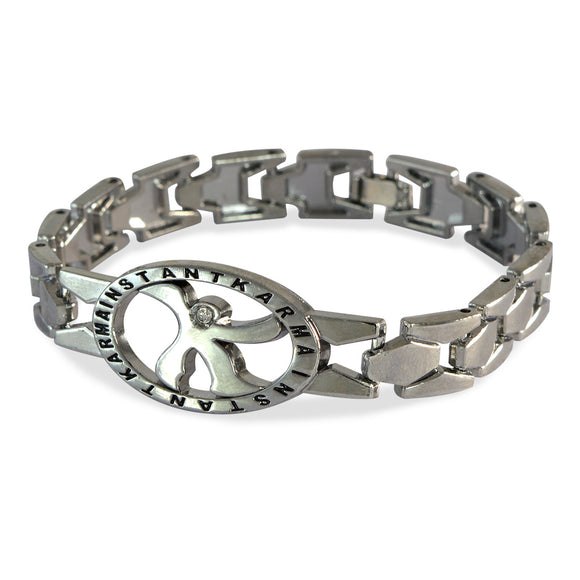 Men's Instant Karma Silver Color Bracelet