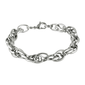 Men Prince Of Wales Chain Bracelet Silver color for Everyday wear by Sarah