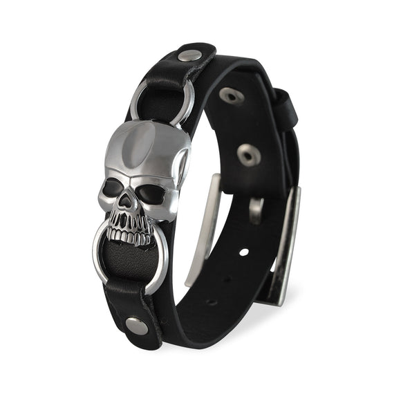 Men::Boys Skeleton Bracelet Black color for Everyday wear by Sarah