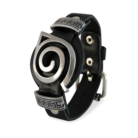 Men::Boys Biker Style Bracelet Black color for Everyday wear by Sarah