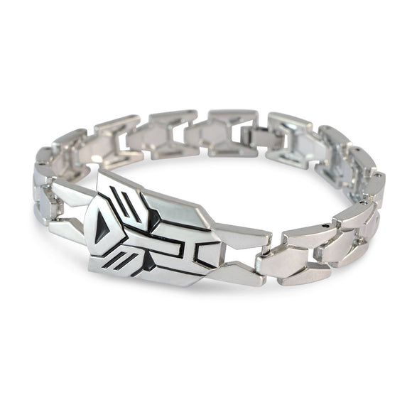 Men::Boys Biker Style Bracelet Silver color for Everyday wear by Sarah