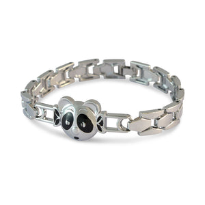Men::Boys Animal Face Bracelet Silver color for Everyday wear by Sarah