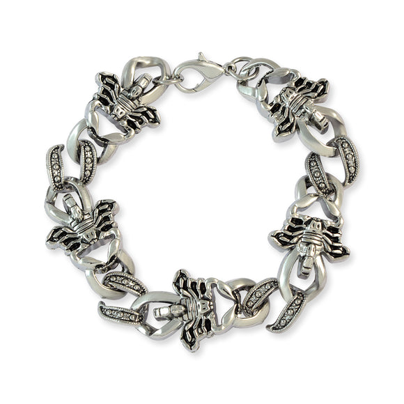 Men::Boys Scorpions Link Bracelet Silver color for Everyday wear by Sarah