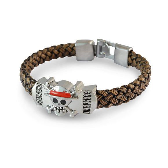 Sarah Men Danger Sign Bracelet Brown color for Everyday wear