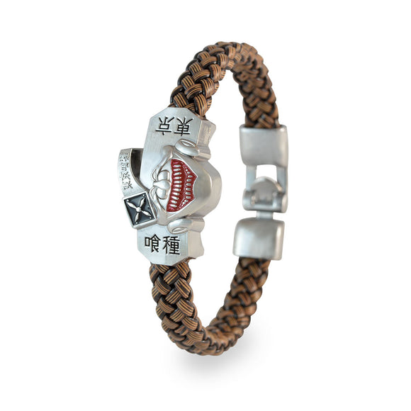 Sarah Men Devils Face Design Bracelet Brown color for Everyday wear