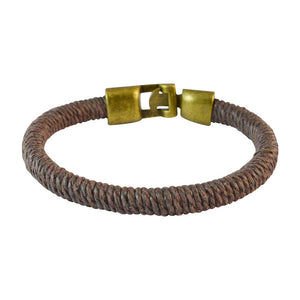 Sarah Men  Thread Bracelet Brown color for Everyday wear