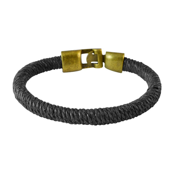 Sarah Men  Thread Bracelet Black color for Everyday wear