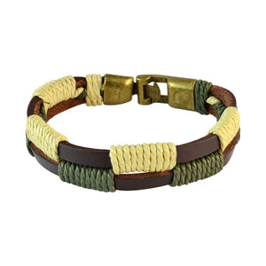 Sarah Men  Leather Bracelet Multi-Colour color for Everyday wear