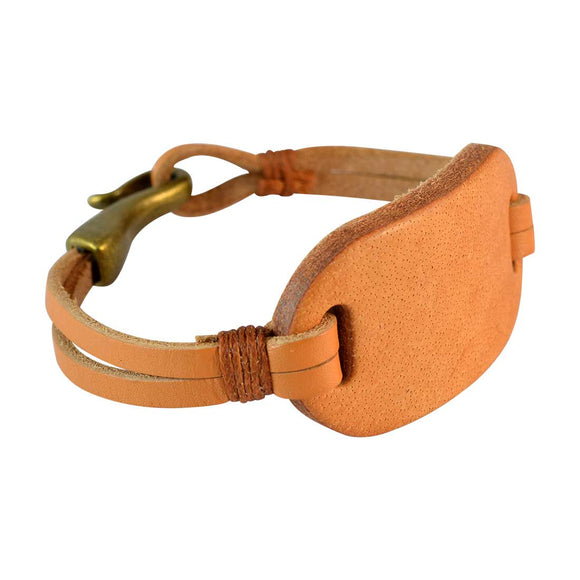 Sarah Men  Leather Bracelet Light Brown color for Everyday wear