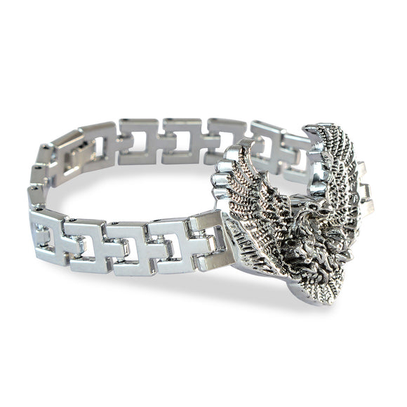 Sarah Silver Eagle's Wing Steel Bracelet for Men