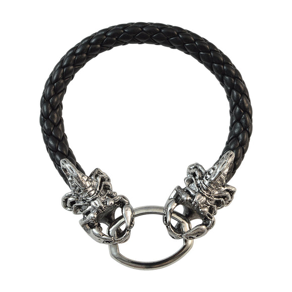 Sarah Black Double Scorpions Bracelet for Men