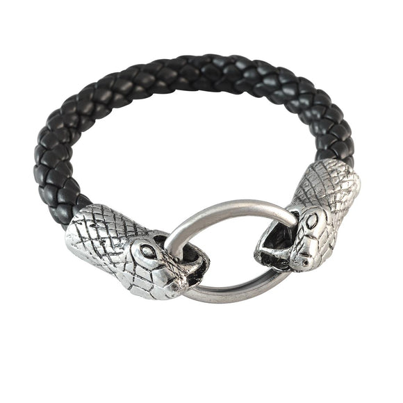 Sarah Black Double Snake Bracelet for Men