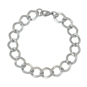 Sarah Silver Link Chain Metal Bracelet for Men