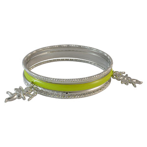 Sarah Angel Charms Bangles for Women - Green