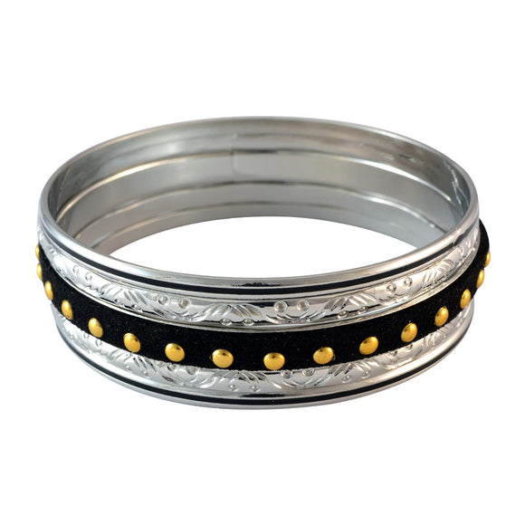 Sarah Dotted Bangles for Women - Black