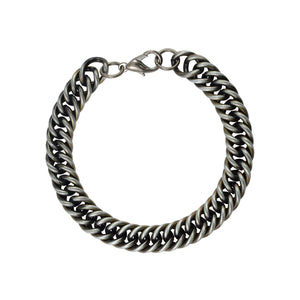 Sarah Metal Cuban Link Mens Bracelet - Metallic